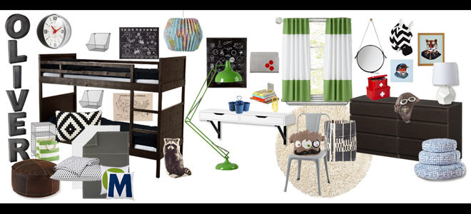 olivers room redo inspiration board
